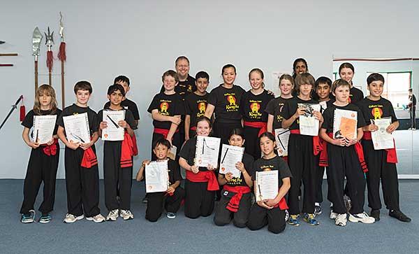 kung fu kids-class-children grading