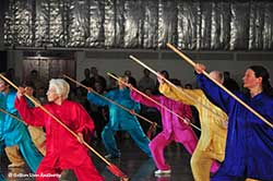 group tai chi cudgel form